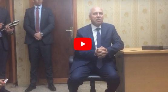 """أول فيديو للفريق """"كامل الوزير"""" من داخل مكتبه في وزارة النقل.. ويصدر تكليف حاسم وعاجل متعهدًا بتنفيذ فورًا"""
