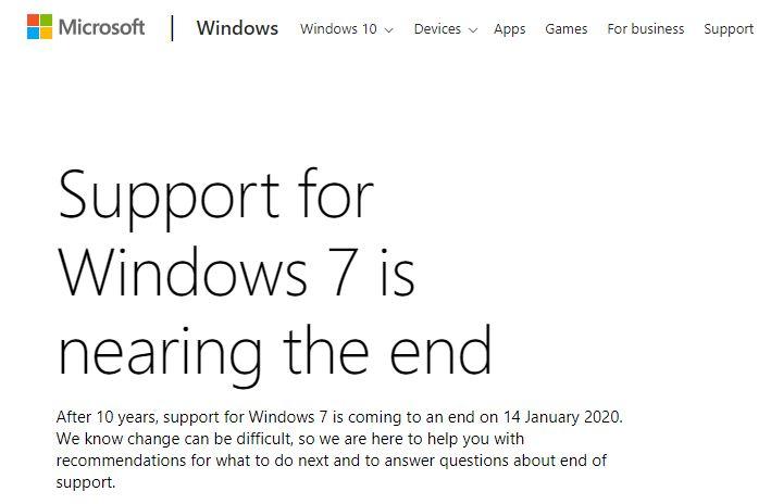 مايكروسوفت تعلن إيقاف دعم هذا النظام قريبا!