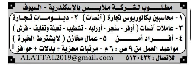 إعلانات وظائف جريدة الوسيط اليوم الجمعة 15/3/2019 5