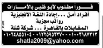 إعلانات وظائف جريدة الوسيط اليوم الجمعة 15/3/2019 28