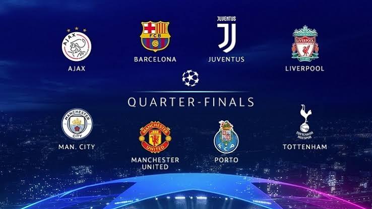 مواعيد مباريات الربع النهائي والقنوات الناقلة لدوري أبطال أوروبا 2019