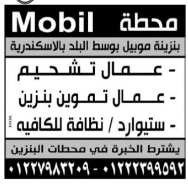 إعلانات وظائف جريدة الوسيط اليوم الاثنين 8/4/2019 7