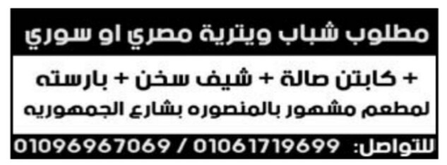 إعلانات وظائف جريدة الوسيط الأسبوعي 18