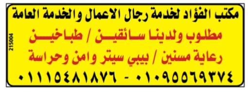 إعلانات وظائف جريدة الوسيط اليوم الاثنين 8/4/2019 21