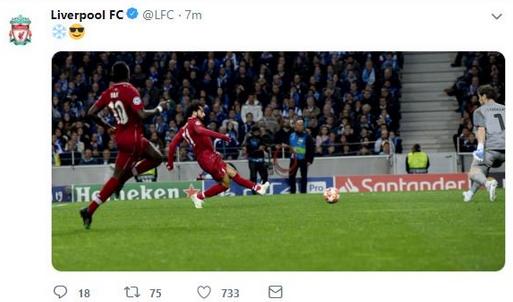 بالصور| نادي ليفربول يحتفل بـ«محمد صلاح» بعد تألقه أمام بورتو البرتغالي 1
