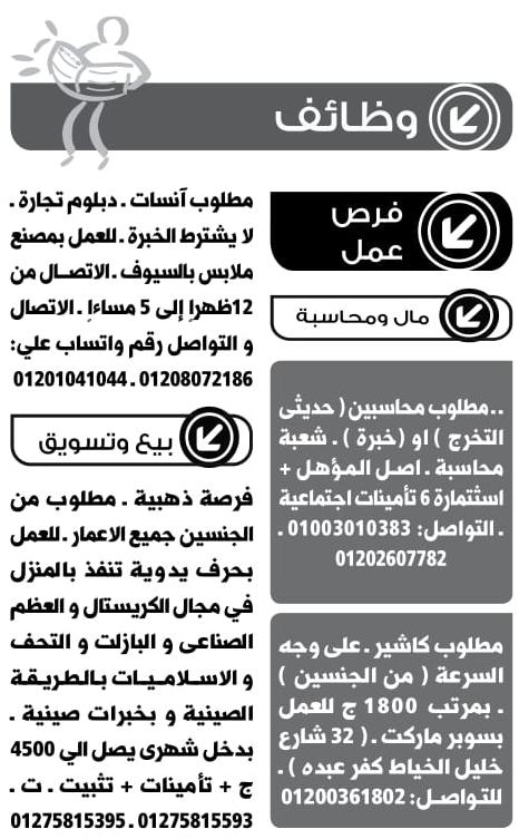 وظائف جريدة الوسيط الاسكندرية اخر عدد pdf اليوم 15/4/2019 14
