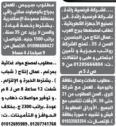 وظائف جريدة الوسيط الاسكندرية اخر عدد pdf اليوم 15/4/2019 19