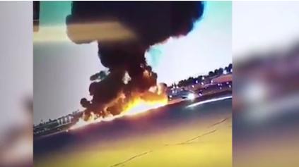 شاهد| النشطاء يتداولون لحظة سقوط طائرة وتحطمها فور إقلاعها 3