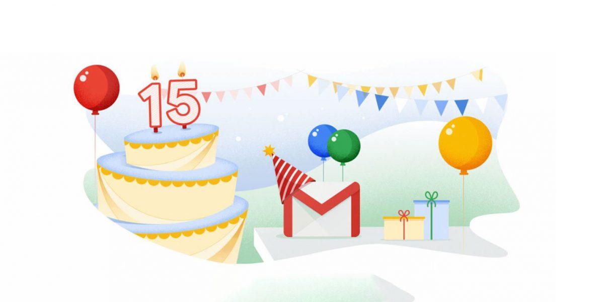 "Gmail في عيده الخامس عشر..تعرف على مفاجئات gmail في""Gmail 15th anniversay"""