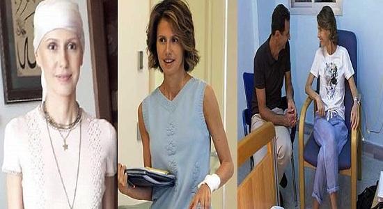 """""""بالفيديو"""" شاهد كيف أصبح شكل أسماء الأسد زوجة الرئيس السوري """"بشار"""" بعد علاجها بالكيماوي في أول ظهور لها"""