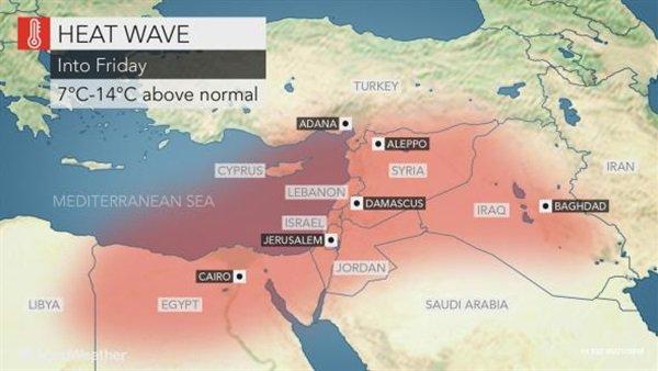 لاتغادرو المنازل.. موقع عالمي يُحذر المواطنين من موجة حارة تضرب مصر خلال الساعات القادمة «صور» 1