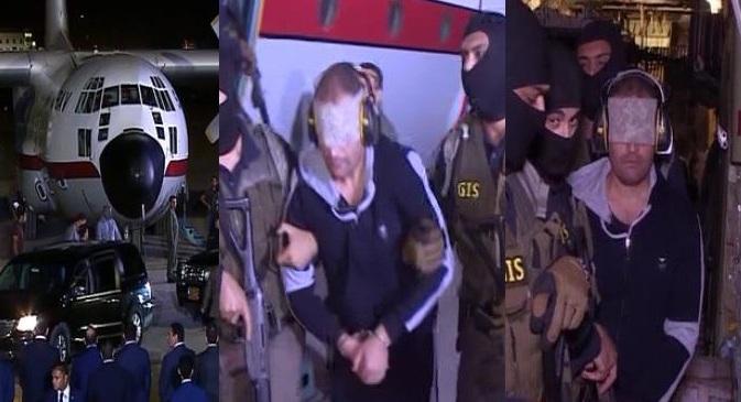 """عاجل  بالفيديو والصور """"جابوه متكتف"""" أول تعليق للسيسي على تسلم هشام عشماوي واللحظات الأولى لوقوعه بيد المخابرات المصرية"""