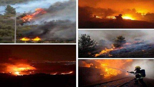 """بالفيديو والصور """"نتنياهو يستغيث بدول العالم والحرائق تشتد"""".. النيران تلتهم إسرائيل والخسائر فادحة"""