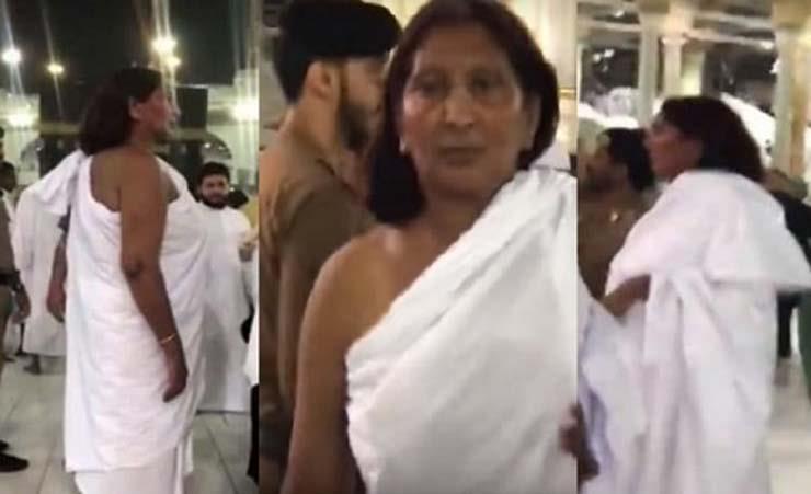 """""""بالفيديو والصور"""" حقيقة المرأة التي طافت الحرم المكي بملابس إحرام الرجال"""