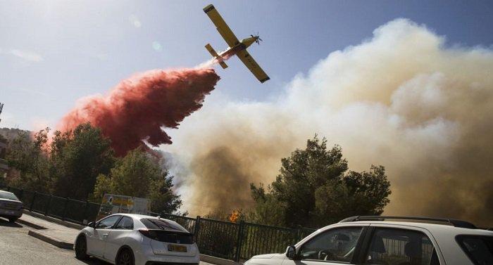 """بالفيديو والصور """"نتنياهو يستغيث بدول العالم والحرائق تشتد"""".. النيران تلتهم إسرائيل والخسائر فادحة 3"""