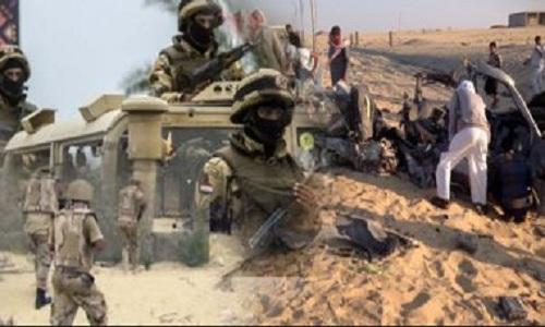 إحباط هجوم إرهابي على ارتكاز أمني في سيناء واستشهاد وإصابة 7 من بينهم ضابطين.. وبيان من المتحدث العسكري بالتفاصيل وعدد القتلى