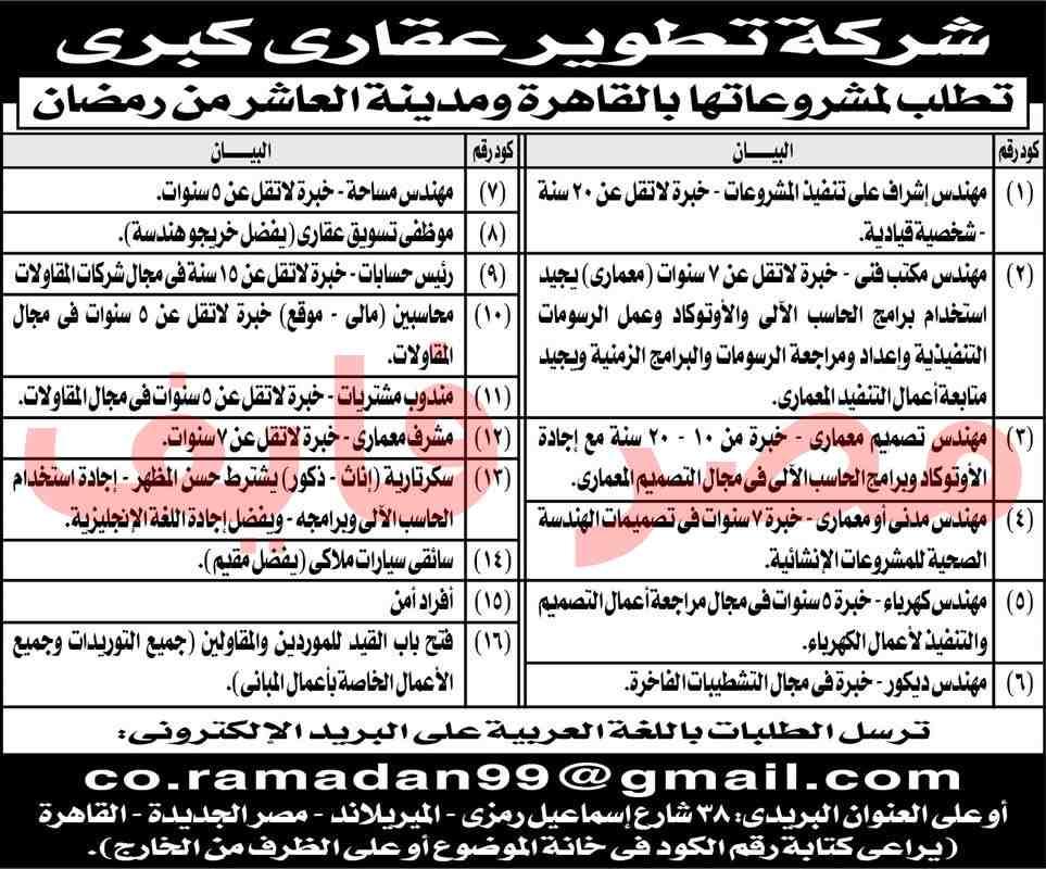 وظائف مهندسين بجريدة الاهرام الجمعة 21/6/2019 1