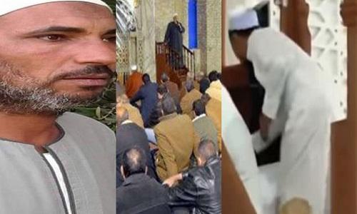 بالفيديو| لحظة وفاة إمام مسجد على المنبر أثناء إلقاءه خطبة الجمعة أمس تزامناً مع وفاة خطيب آخر بالفيوم في نفس التوقيت