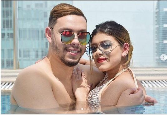 """بالفيديو والصور.. """"استمتعوا بحبي"""" أحمد حسن يثير الجدل من جديد بصور له مع زوجته زينب"""