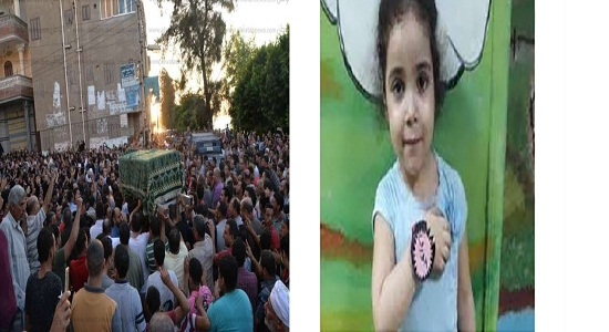 بالصور| والدها لم يحضر تشيع الجنازة.. والتقرير المبدئي يكشف تفاصيل وفاة الطفلة «جنة» ضحية التعذيب
