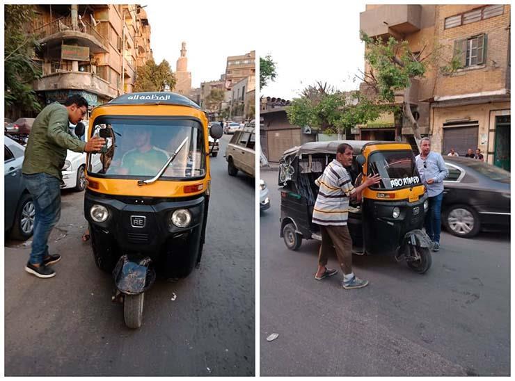 بالصور.. حملة لضبط «التكاتك» بحي السيدة زينب بالقاهرة