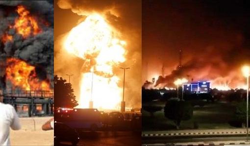 """""""بالفيديو"""" الحوثي يهدد من جديد ويكشف تفاصيل تفجيرات شركة أرامكوا السعودية بـ10 طائرات بدون طيار في هجوم هو الأخطر على الإطلاق"""