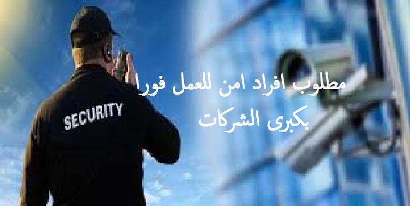 مطلوب أفراد أمن للعمل فوراً بكبرى الشركات بمرتبات مجزية