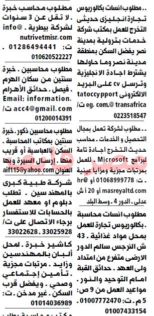 وظائف جريدة الوسيط القاهرة