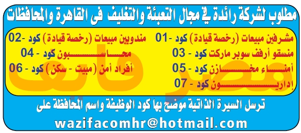 وظائف جريدة الوسيط الاسبوعية 7/10/2019