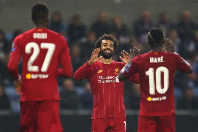 محمد صلاح علي بعد أهداف ويصبح الهداف التاريخي لفريق ليفربول في دوري الأبطال