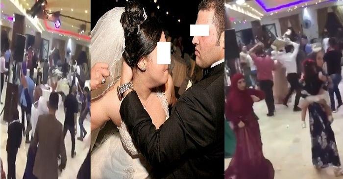 """بالفيديو """"كيد الحموات"""" يحوّل الفرح لجولة مصارعة حرة بسبب أم العريس والنهاية """"طلاق العروسة ليلة دخلتها"""""""