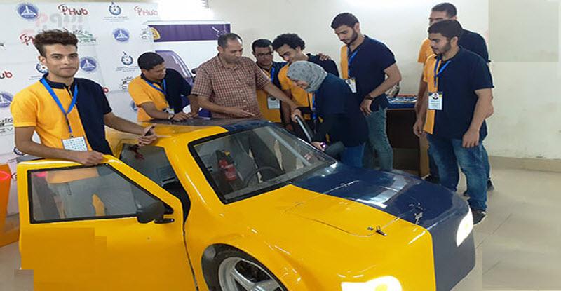 فعلها طلاب هندسة الزقازيق .. سيارة كهربائية بسرعة 100 كم / ساعة 1