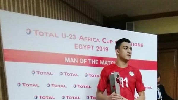 """أول تعليق لـ""""مصطفى محمد"""" بعد حصوله على أفضل لاعب في مباراة اليوم.. ويكشف عن هدفه الأهم"""
