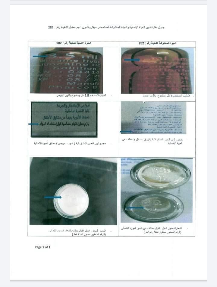 بالمستندات.. الصحة تُحذر من دواء مضاد حيوي مغشوش منتشر بالأسواق المصرية 1