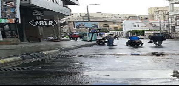 عاجل بالصور| هطول أمطار على الإسكندرية منذ قليل في آخر أيام «قاسم».. وتحرك سريع من شركة المياه 2