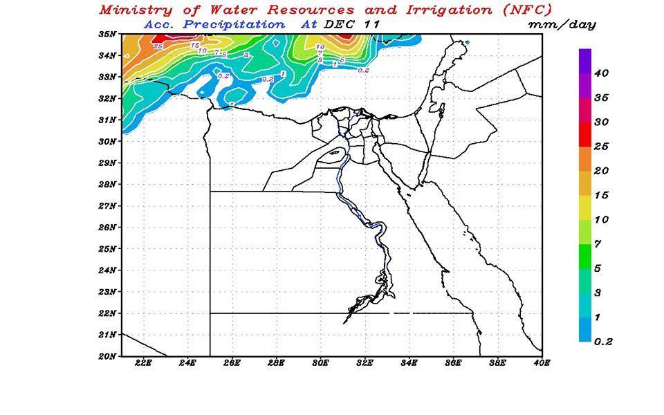 بالخرائط.. التنبؤ بالفيضان والسيول يكشف أماكن سقوط الأمطار خلال الساعات القادمة 1