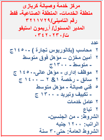 """""""جميع المؤهلات"""" مئات الوظائف المعلنة بنشرة وزارة القوى العاملة والهجرة لشهر ديسمبر 2019 2"""