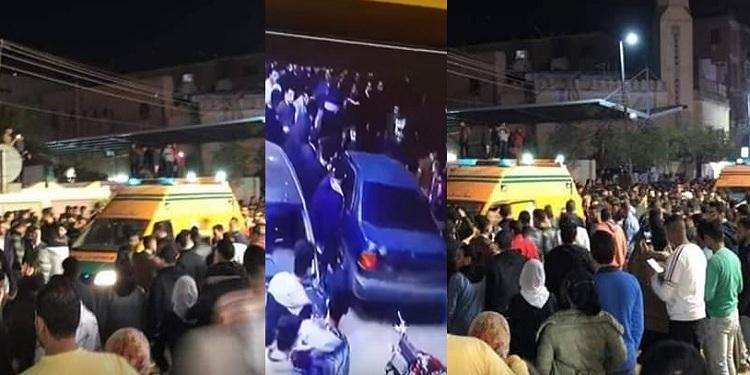 """بالفيديو والصور """"ماذا يحدث في شبين الكوم"""" مصادر أمنية تكشف تفاصيل ما حدث بالمنوفية ودهس المواطنين بسيارة ملاكي في شارع الاستاد"""
