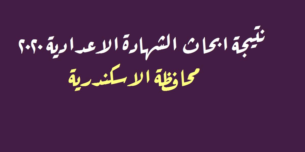 البوابة الإلكترونية لمحافظة الإسكندرية   نتيجة ابحاث الشهادة الاعدادية 2020 الإسكندرية برقم الجلوس
