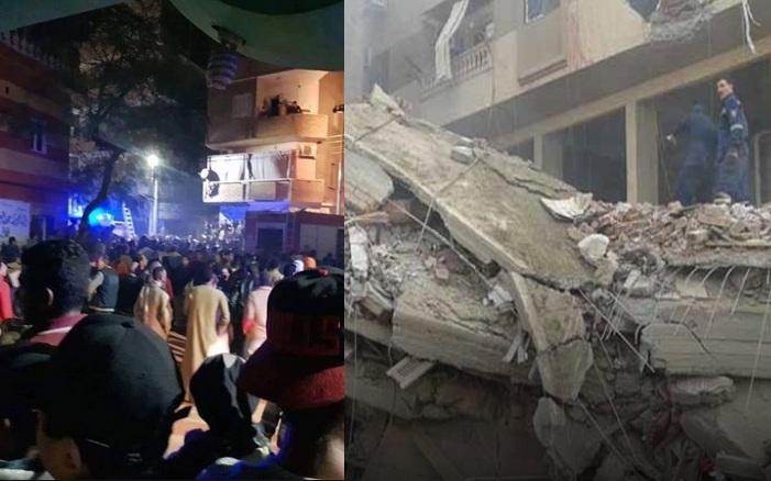 """""""الناس اندفنت تحت المبنى وانا قفزت من الشباك"""" انهيار عقار بالإسكندرية منذ قليل وأعداد الضحايا وأحد الناجين يروي تفاصيل لحظات الرعب"""
