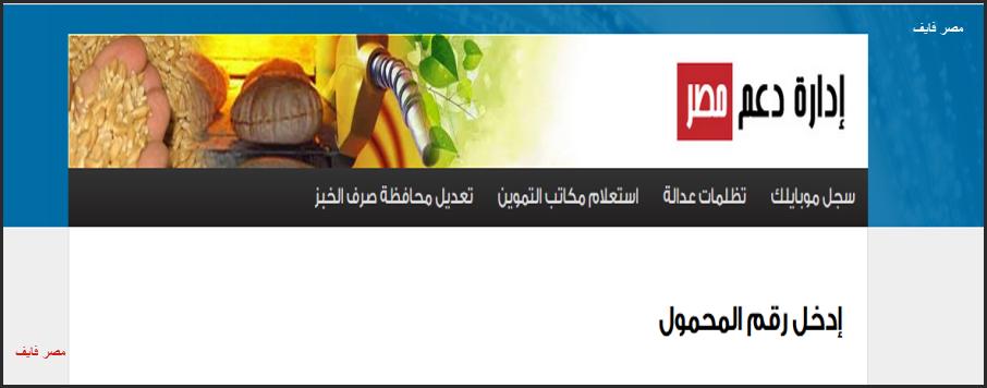 موقع دعم مصر 2020 خطوات تسجيل رقم الموبايل ببطاقة التموين.. ماذا تعني رسالة خطأ 904 ؟