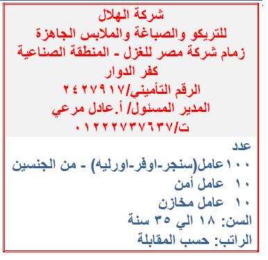 مئات الوظائف المعلنة بنشرة وزارة القوى العاملة والهجرة لجميع المؤهلات فبراير 2020 3