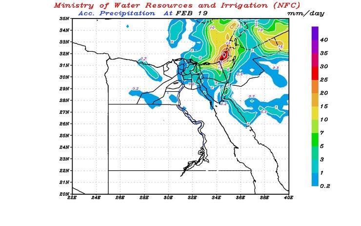 بالخرائط| التنبؤ بالفيضان يكشف عن طقس الغد وأماكن سقوط الأمطار خلال الـ48 ساعة القادمة 1