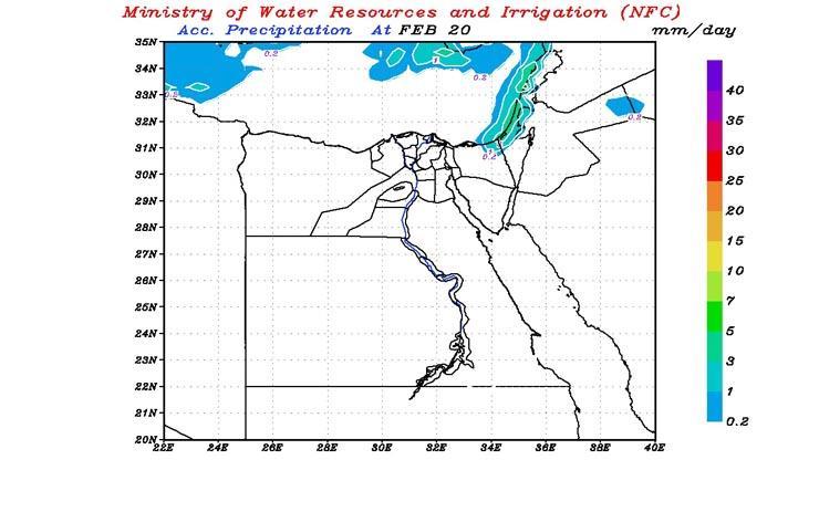 بالخرائط| التنبؤ بالفيضان يكشف عن طقس الغد وأماكن سقوط الأمطار خلال الـ48 ساعة القادمة 2