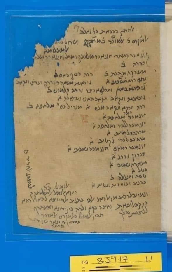 صورة لأقدم قائمة منقولات في التاريخ