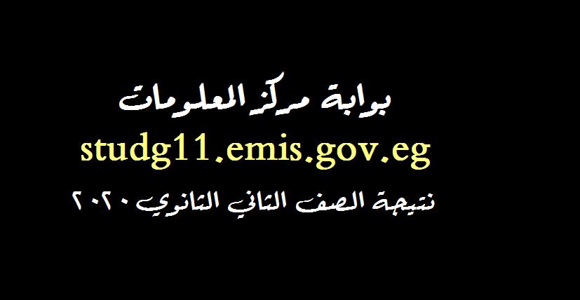 الآن بالدرجات | studg11.emis.gov.eg نتيجة الصف الثاني الثانوي 2020 بالرقم القومي