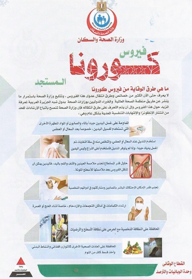 أخر أخبار فيروس كورونا المستجد COVID-19 في مصر والعالم 2020 1
