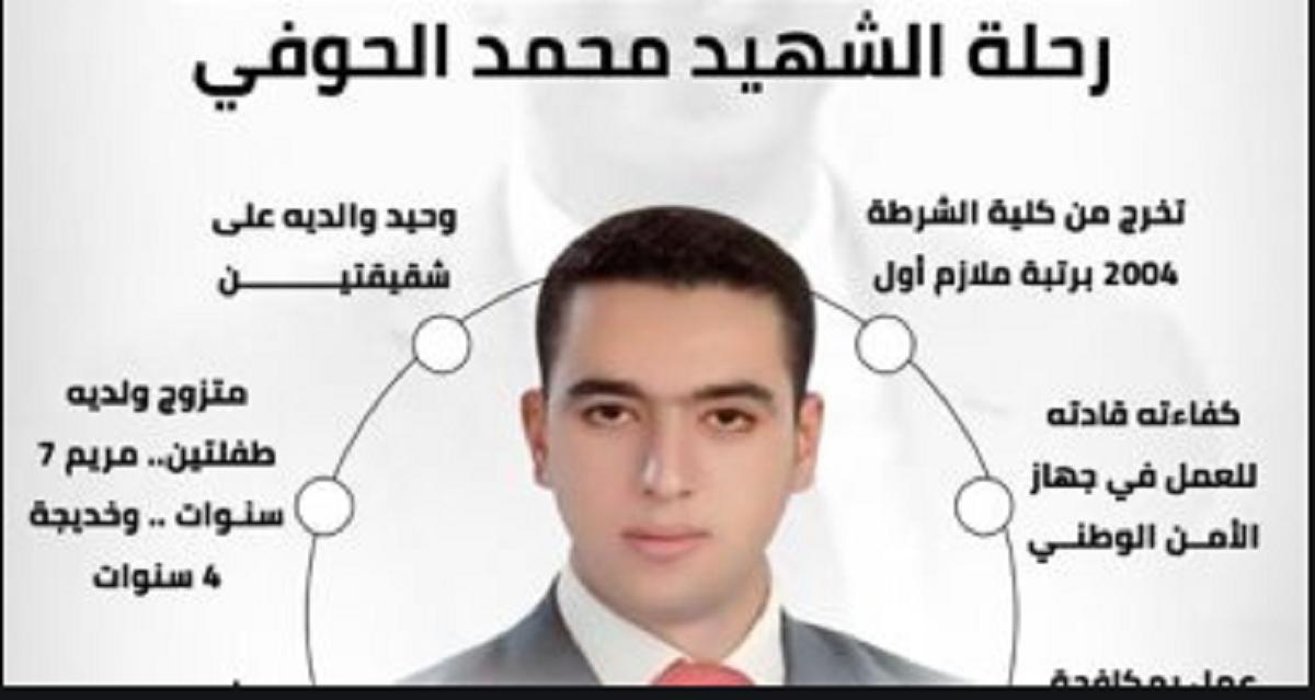 آخر رسالة للشهيد المقدم محمد الحوفي لأسرته: «متخرجوش من البيت».. فيديو