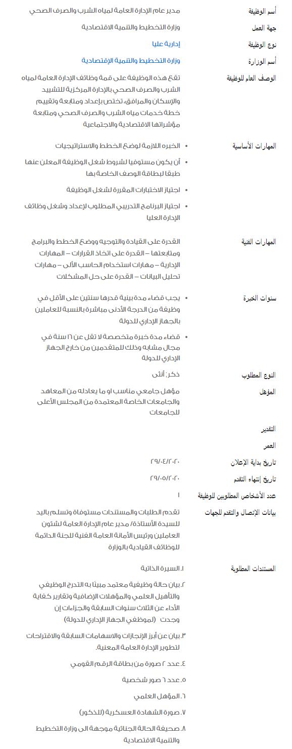 وظائف الحكومة المصرية لشهر مايو 2020 6