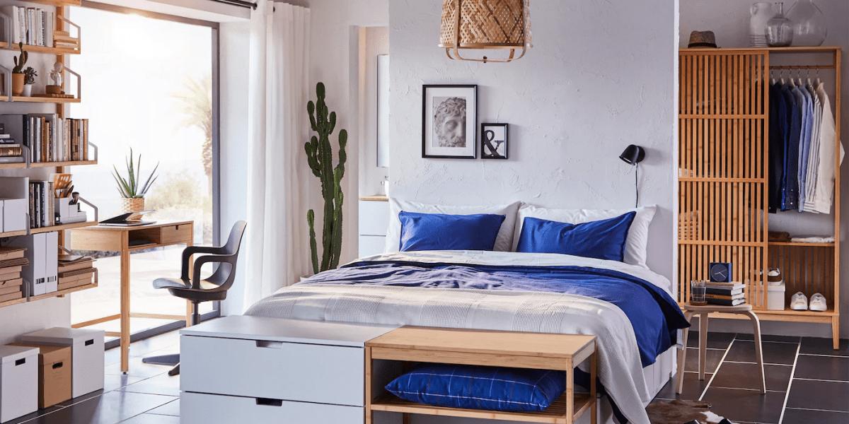 غرف نوم ايكيا بالصور… أثاث الخزيران إضافة لمسة من الطبيعة للمنزل